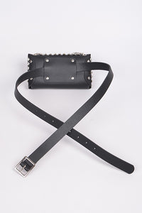 Studded Waist Bag - Black