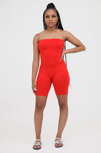 Tube Romper - Red