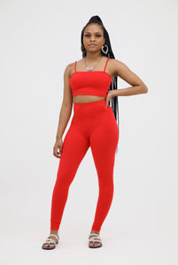 Legging Two Piece Set - Red