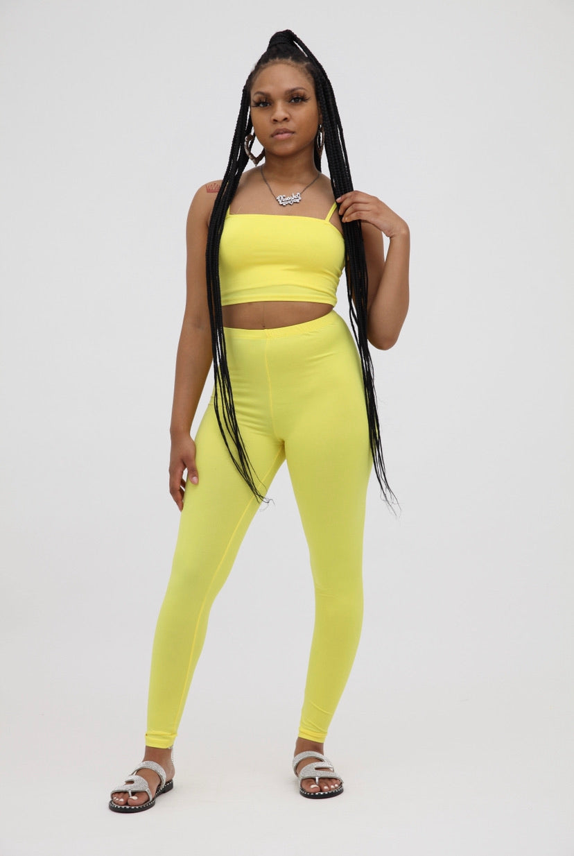Legging Two Piece Set - Yellow