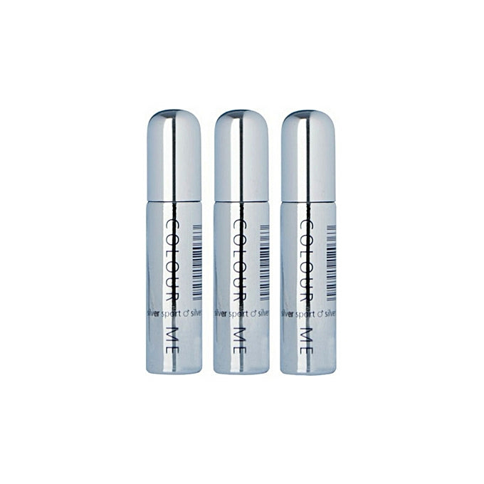 Milton Lloyd Colour Me Homme Silver Sport Pocket Size Roll-on Perfume- 10ml x 3pcs