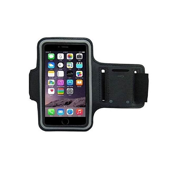 "Gym & Sports Workout Armband for 5.5 - 6"" Phones - Black"