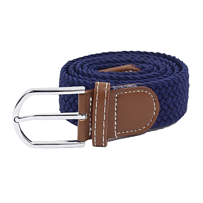 Unisex Elastic woven Belt - Blue black