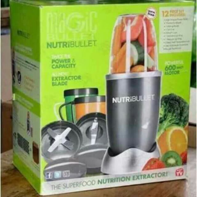 NutriBullet High-Speed Blender/Mixer System - 12 Pieces Grey