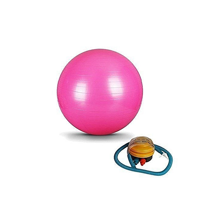 Yoga & Gym Burst-Resistant Exercise Ball with FREE PUMP