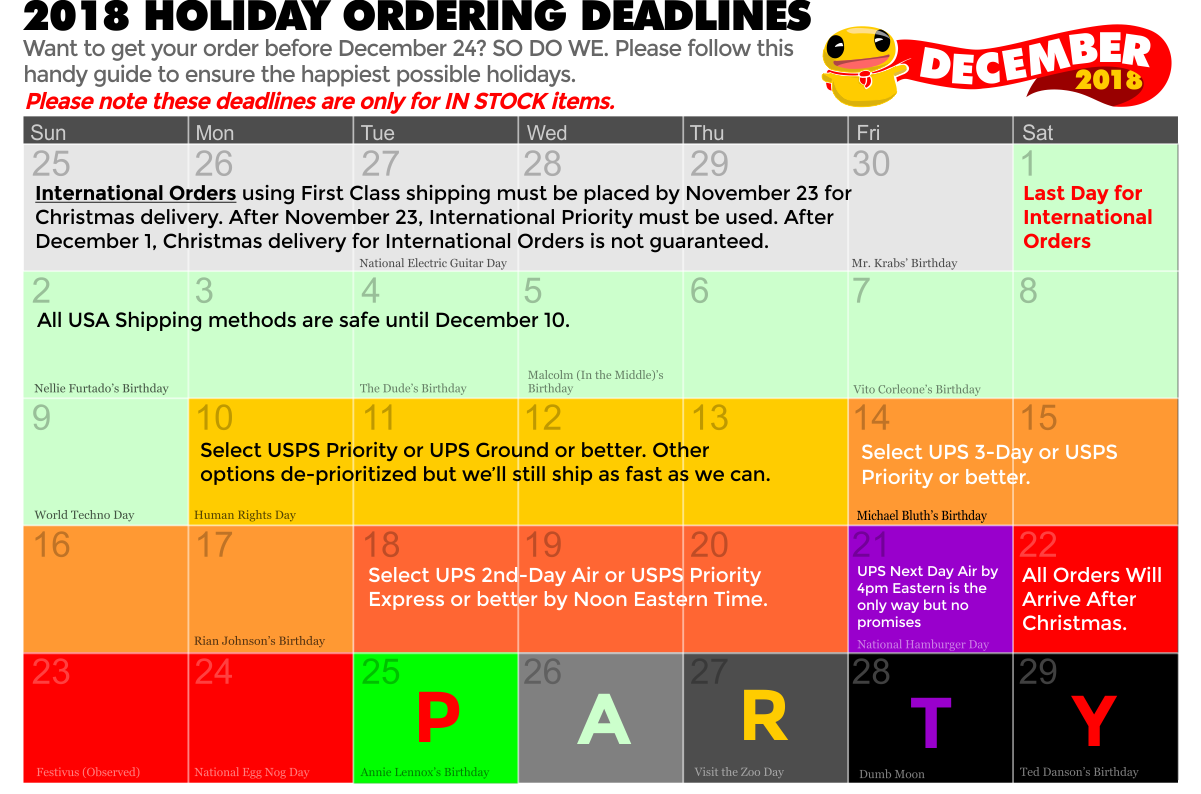 TopatoCo Holiday Ordering Deadlines