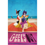 Beach Blanket Batgrrrls Print 11x17