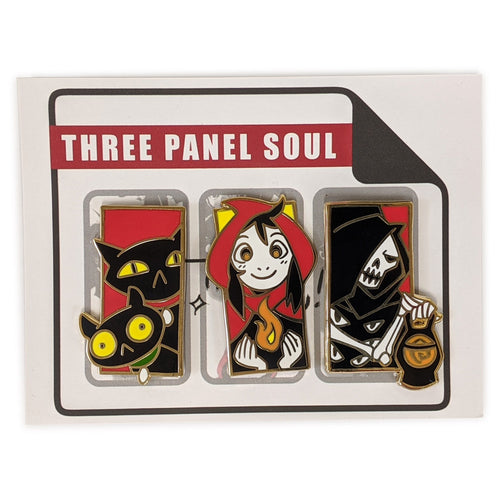 Three Panel Soul Pin Set 01