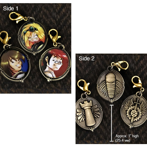 Girl Genius Charms Set 03 - Portraits