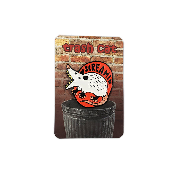 Screamin' Trash Cat Pin