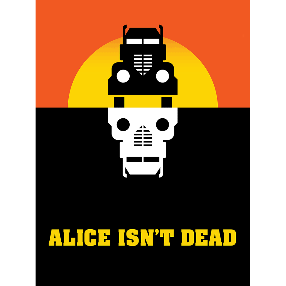 No Disassemble Chainsawsuit Three Panels Daily Alice Isnt Dead Topatoco Logo Poster 18x24