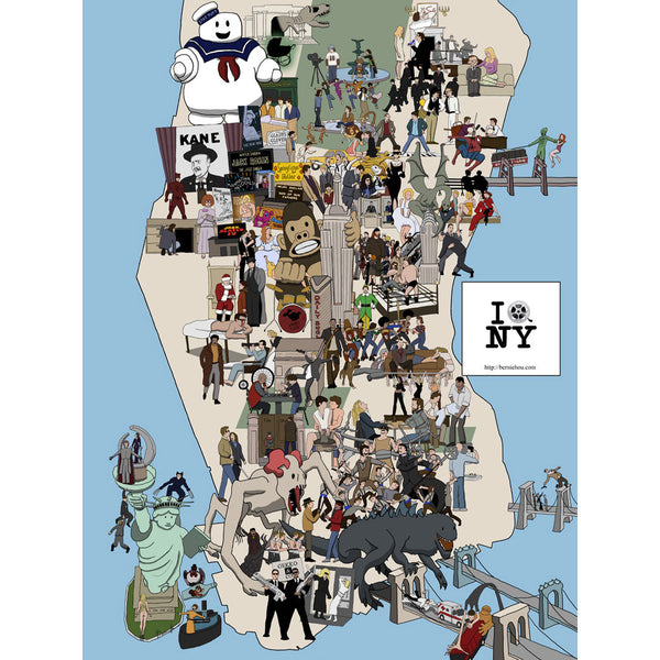 New York Movie Locations Map