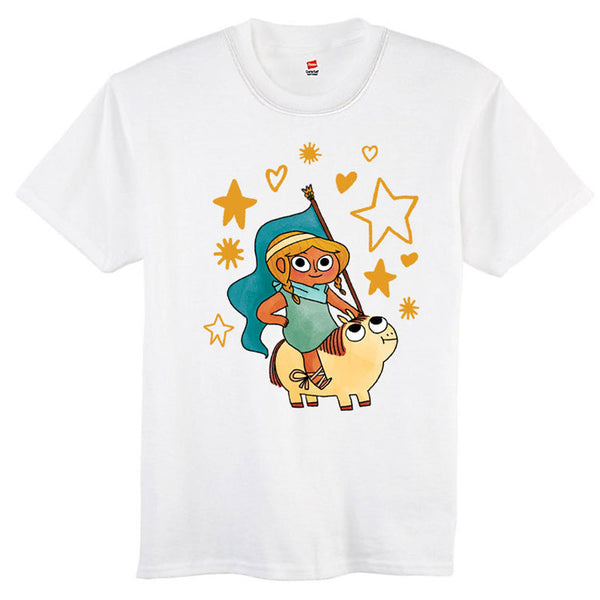 Princess With Flag Kids Shirt