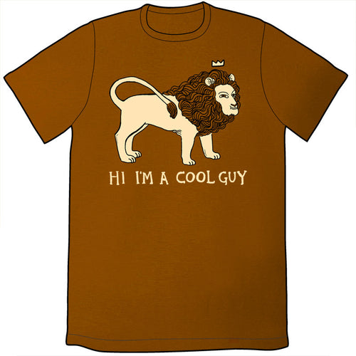 Cool Lion Shirt (Rusty Orange)