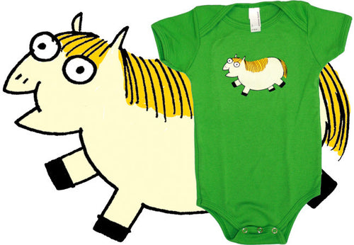 Fat Pony Baby Onesie