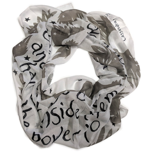 Careful Of Books Quote Scarf
