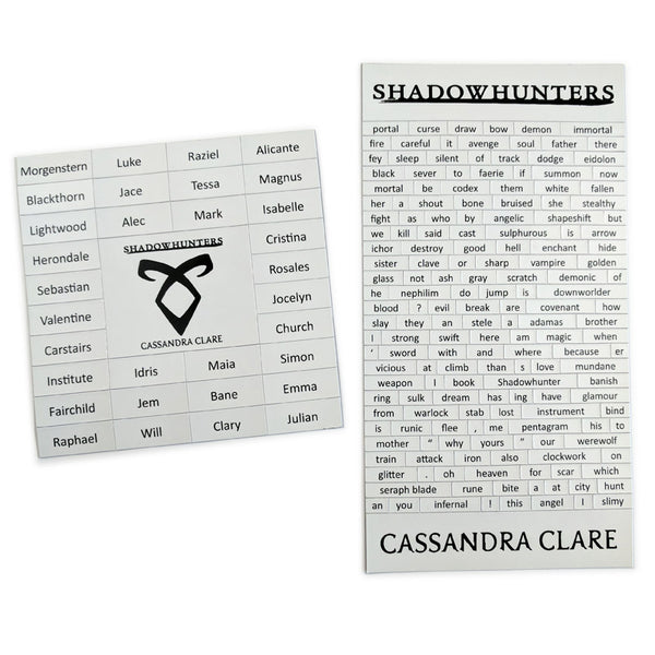 Shadowhunters Magnetic Poetry Set