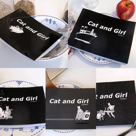 Cat and Girl Button Pack