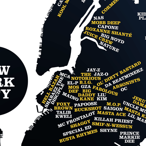 New York City Area Rappers Map