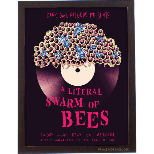 A Literal Swarm of Bees Poster 18x24