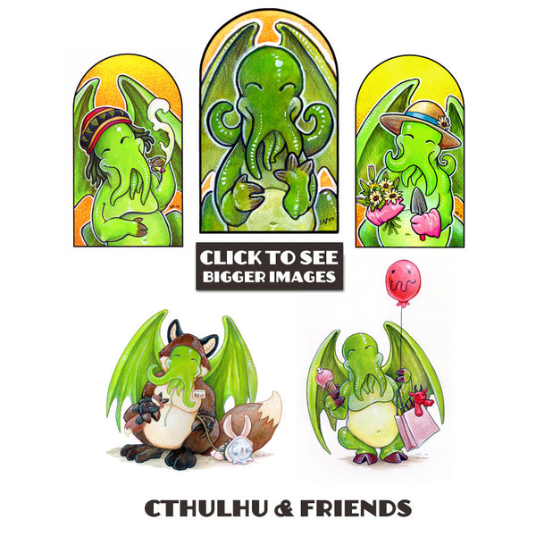 Cthulhu and Friend Prints