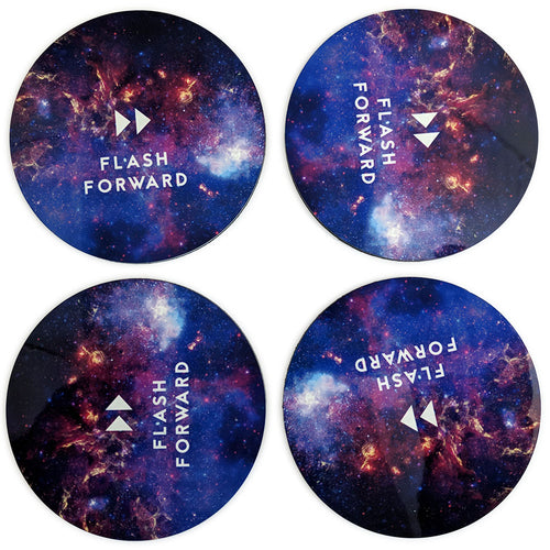 Flash Forward Space Logo Coasters