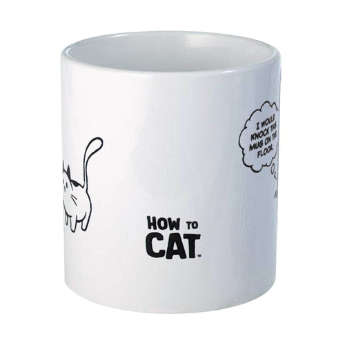 How to Cat Knock on the Floor Mug