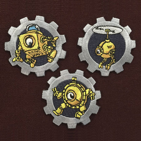 Dingbot Die-cut Gear Sticker Set