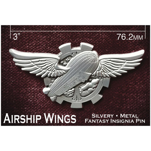 Fantasy Airship Wings Insignia Pin