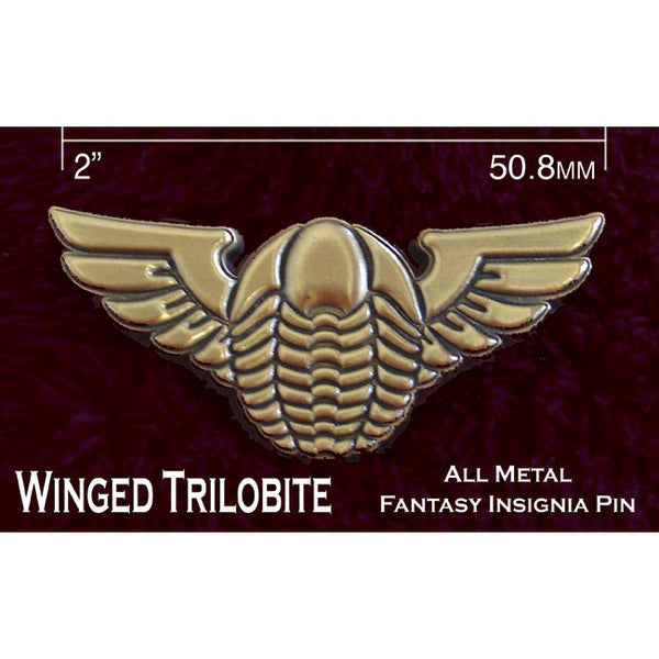 Winged Trilobite Pin