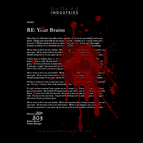 RE: Your Brains Shirt