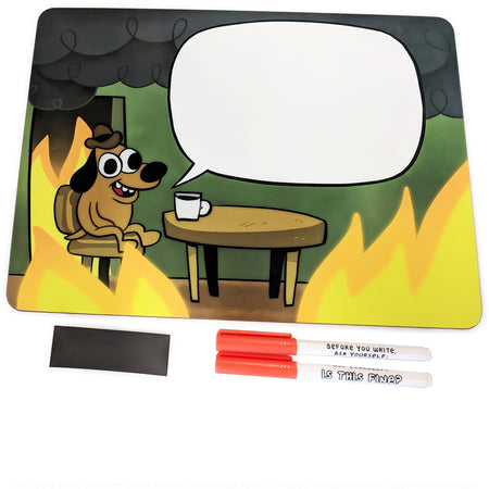 This is Fine Dog & Phrase Stickers 6-Pack