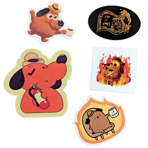 This is Fine Guest Artist Stickers!
