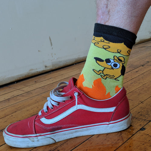 This Is Fine FOOT SOCKS