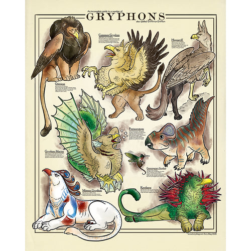 An Incomplete Guide to Gryphons Print