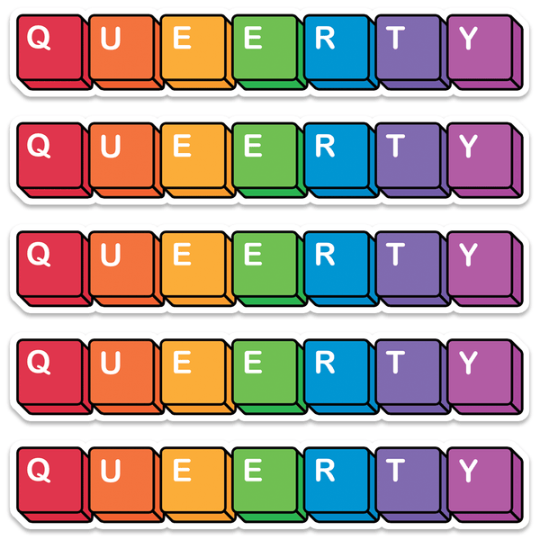 QUEERTY Stickers 5-Pack!