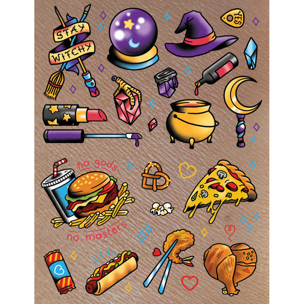 Witches N' Food Temporary Tattoos!
