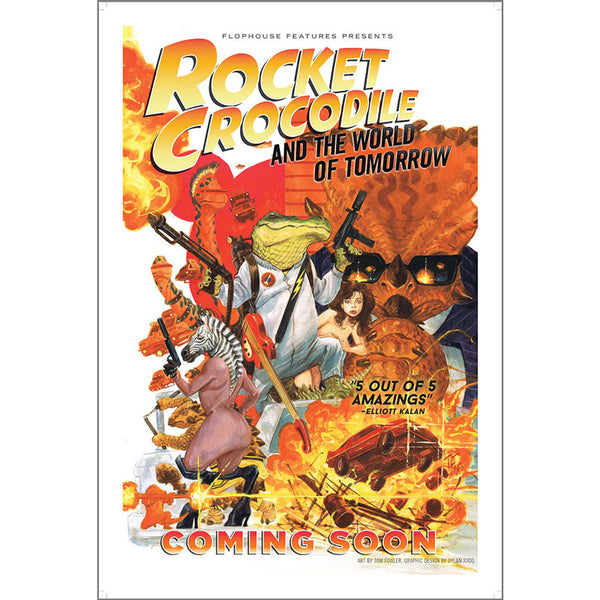 Rocket Crocodile Poster