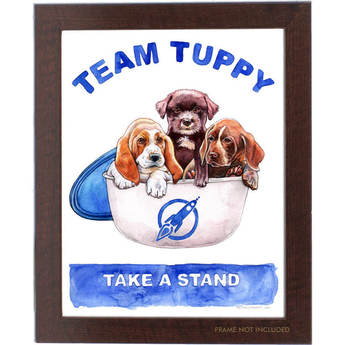 Puppies in Tuppies Print 11x14""