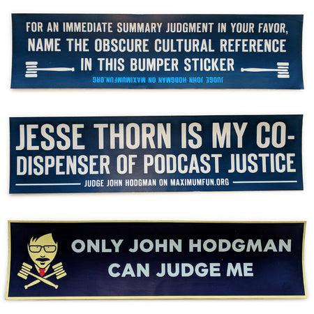 Three Wondermark Bumper Stickers