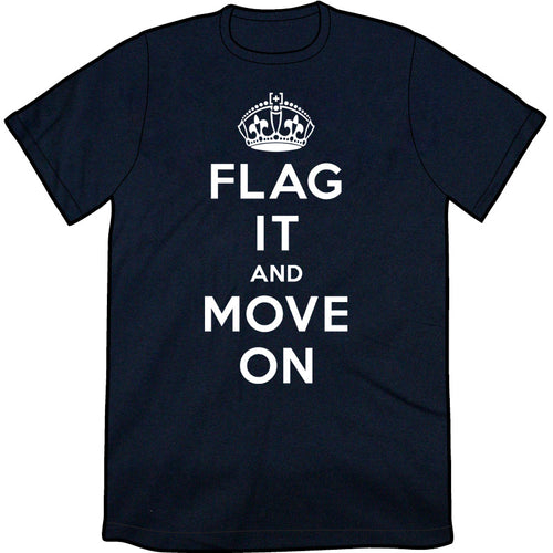 Flag It And Move On Shirt (NAVY)