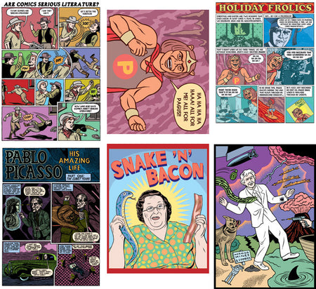 "Michael Kupperman Cover Prints (11"" x 16"")"