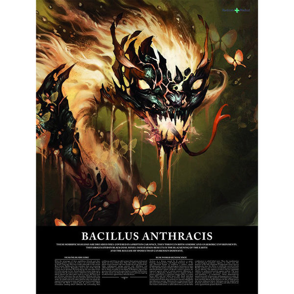 "Bacillus Anthracis  18"" x 24"" poster"
