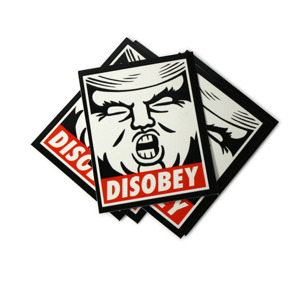 DISOBEY Stickers 5-Pack