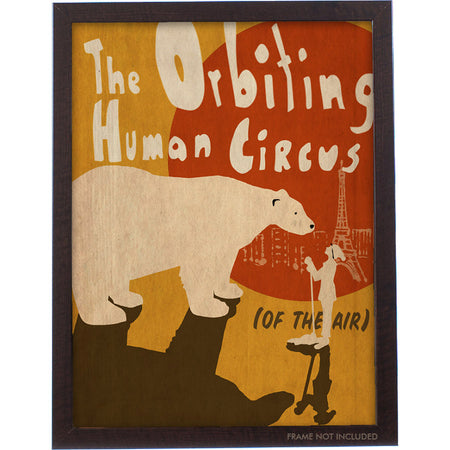 The Orbiting Human Circus (Of the Air) Shirt - Cranberry