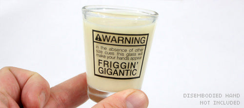 Gigantic Hands Shot Glass