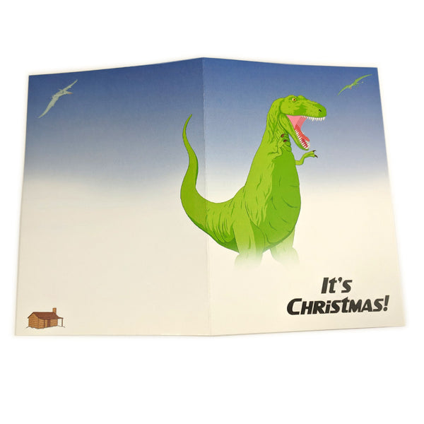 T-rex Christmas Card Pack