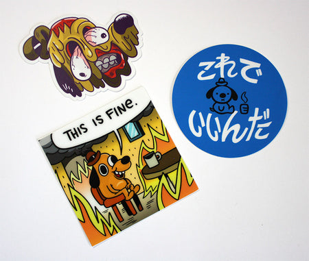 Vote Dog Sticker 3-Pack