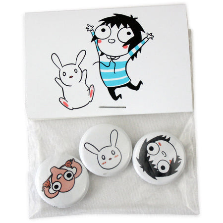 Nancy and Sluggo Enamel Pins!