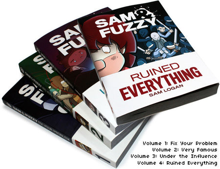 Sam & Fuzzy Holiday Cards
